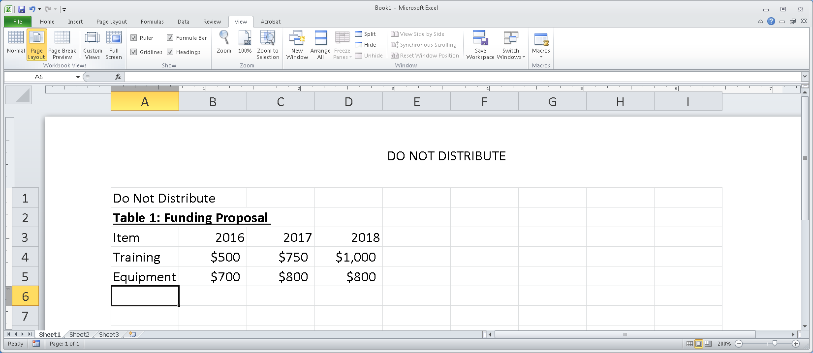 Excel 2013 Accessibility Checklist