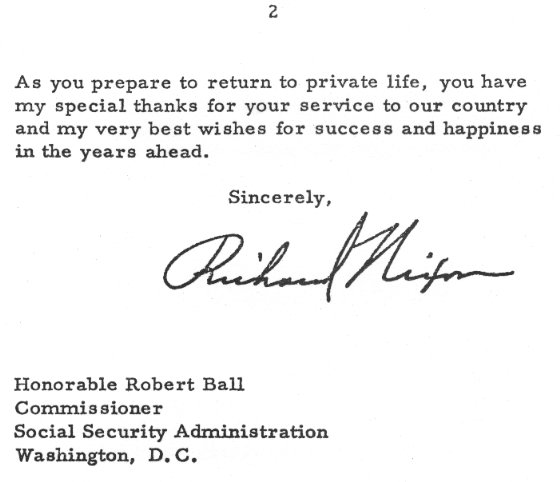 Social Security History – Resignation Letter Reply