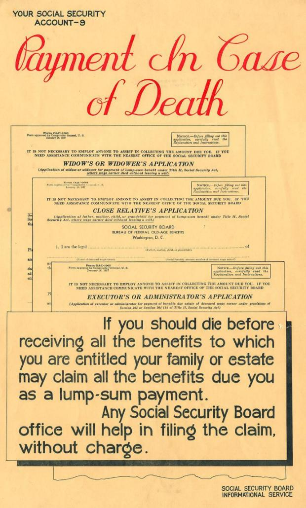 Social security history - Post office account for benefits ...