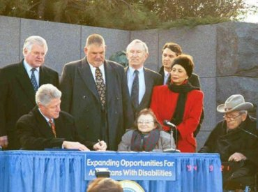 President Clinton signing disability bill