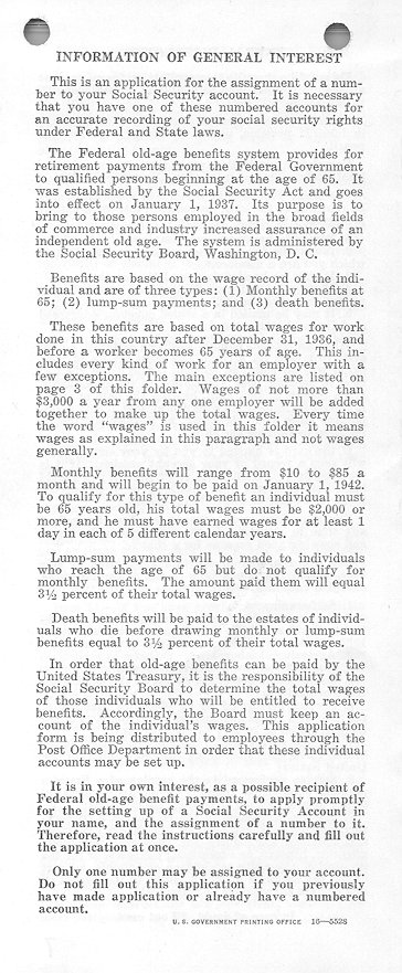 Marvelous Social Security History