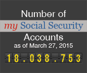 number of my Social Security Accounts as of July 31, 2014 is 13,292,422