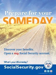 my Social Security Someday Road Poster