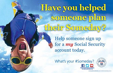 my Social Security Someday Skydiver Poster