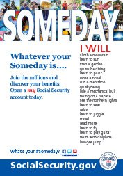 my Social Security Someday Whatever Poster