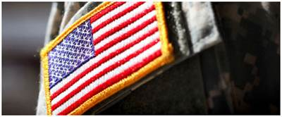 US flag patch on uniform