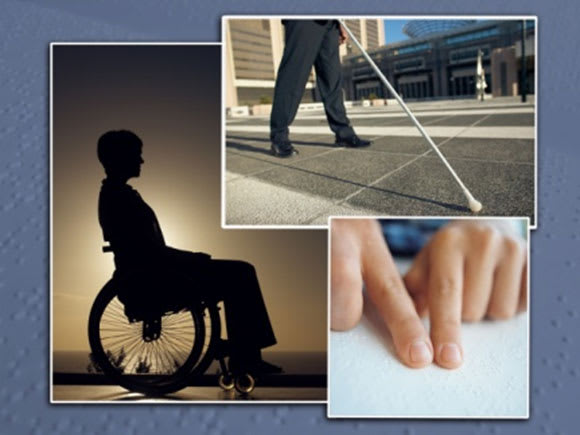 People will different types of disabilities
