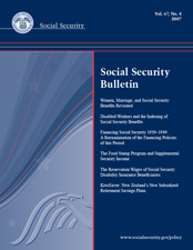 Research: The Food Stamp Program and Supplemental Security